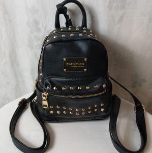 Bebe black & Gold studded backpack